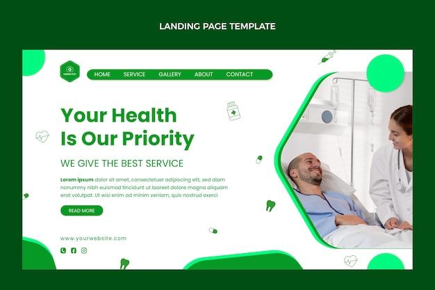 Medizinische landingpage im flachen design