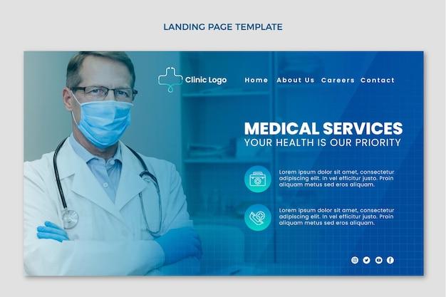 Medizinische landingpage mit gradienten