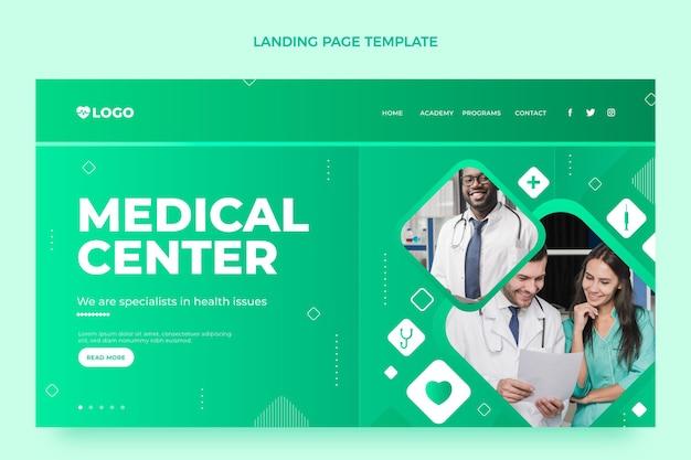 Medizinische landingpage-vorlage mit farbverlauf