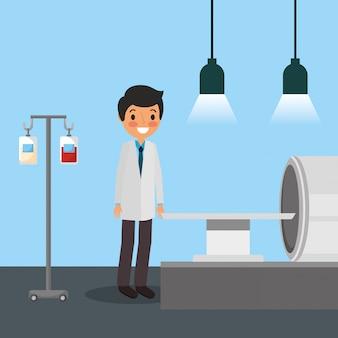 Medizinische leute karikatur