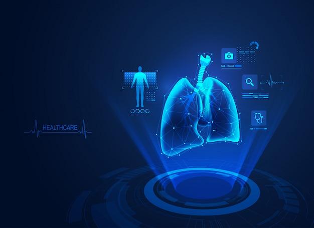 Medizinische lungen