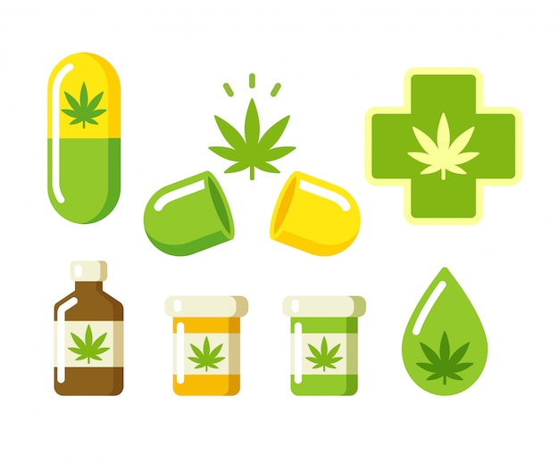 Medizinische marihuana-symbole
