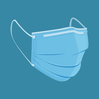 Medizinische maske in flachem design