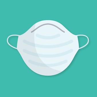 Medizinische maske mit flachem design