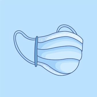 Medizinische maske mit gummi-ohrriemen