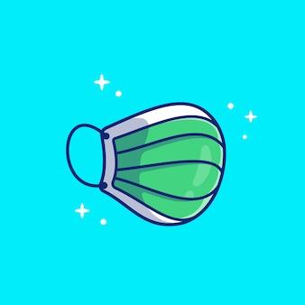 Medizinische maskensymbol-illustration. gesundheitswesen und medizinisches symbol-konzept isoliert