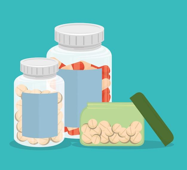 Medizinische medizinpillen