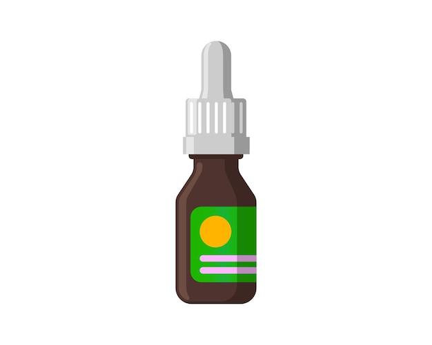 Medizinische nasentropfen braune flasche zur behandlung von nasenrhinitis oder augentropfenkosmetik natürlich organisch