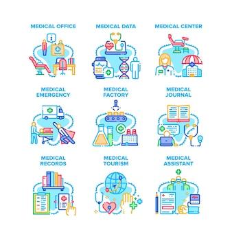 Medizinische notfall-set-symbole