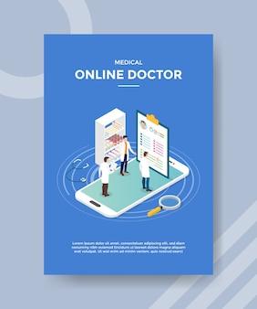 Medizinische online-arzt flyer vorlage