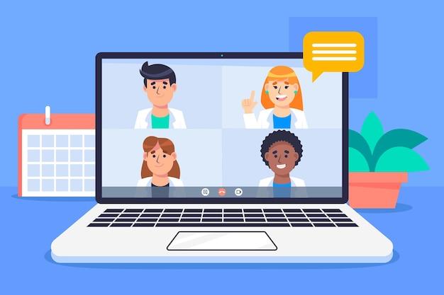 Medizinische online-konferenz