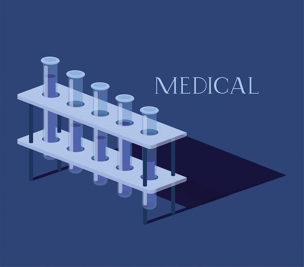 Medizinische röhrchen testen medikamente