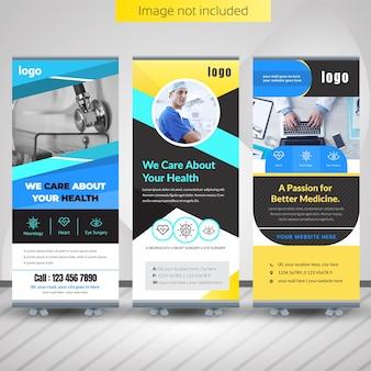 Medizinische roll-up banner design für krankenhaus