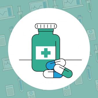 Medizinische sachen und elemente