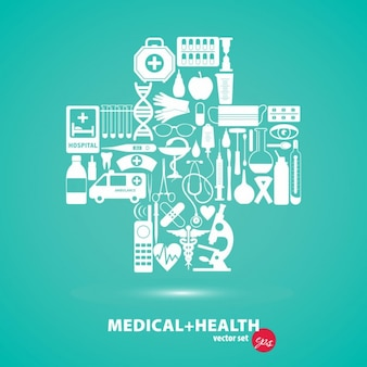 Medizinische satz kreuz illustration