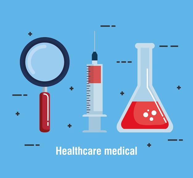 Medizinische set ikonen des gesundheitswesens