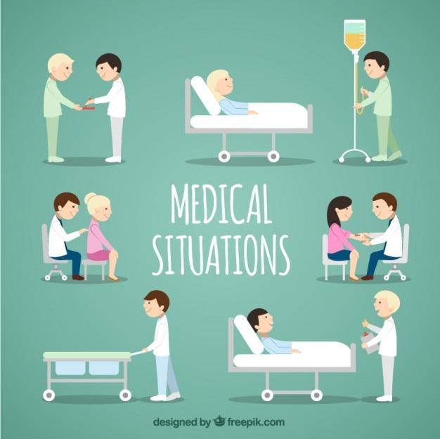 Medizinische situations-sammlung