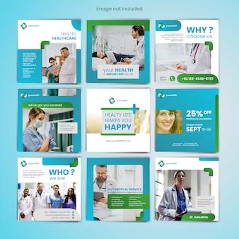 Medizinische soziale medien postkarte vorlage