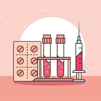 Medizinische spritzenflaschen