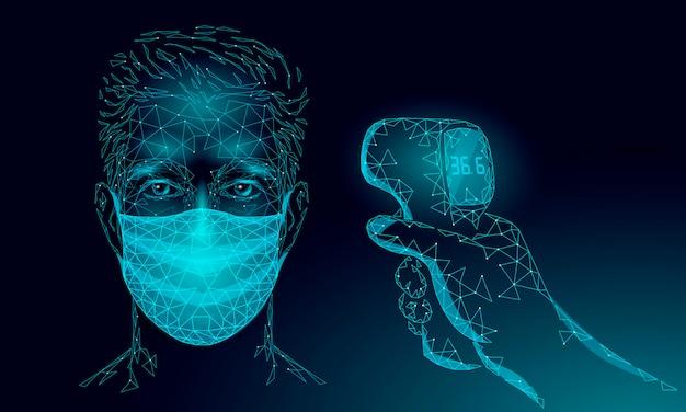 Medizinische stirnmessung des infrarot-thermometers.