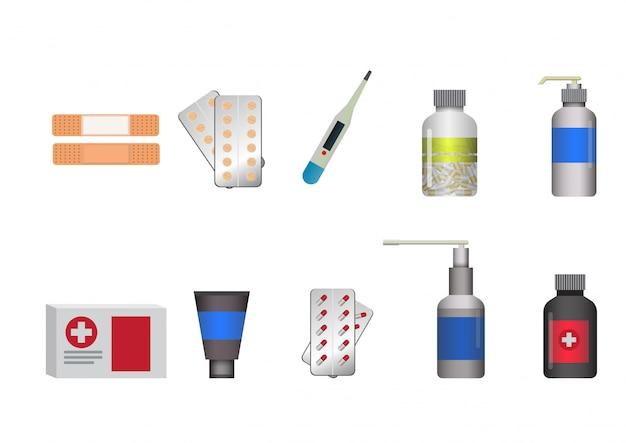 Medizinische symbole eingestellt