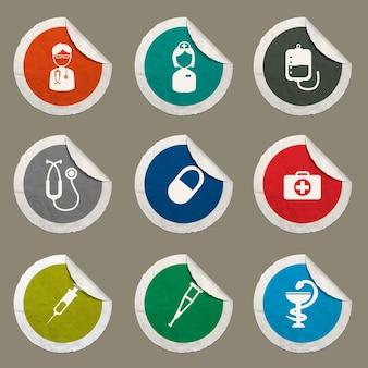 Medizinische symbole für websites und benutzeroberfläche eingestellt