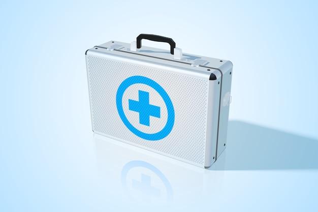 Medizinische tasche aus geschlossenem metall