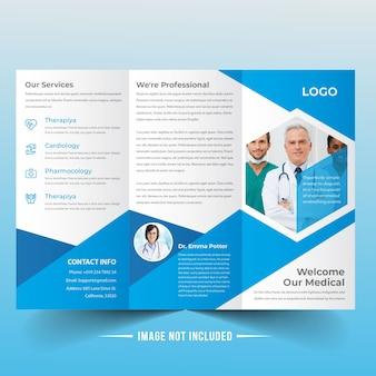 Medizinische trifold broschüre