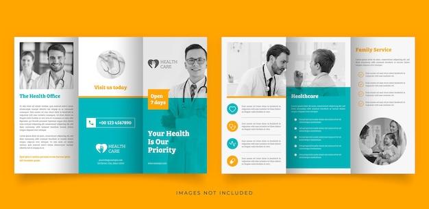 Medizinische trifold-broschürenvorlage