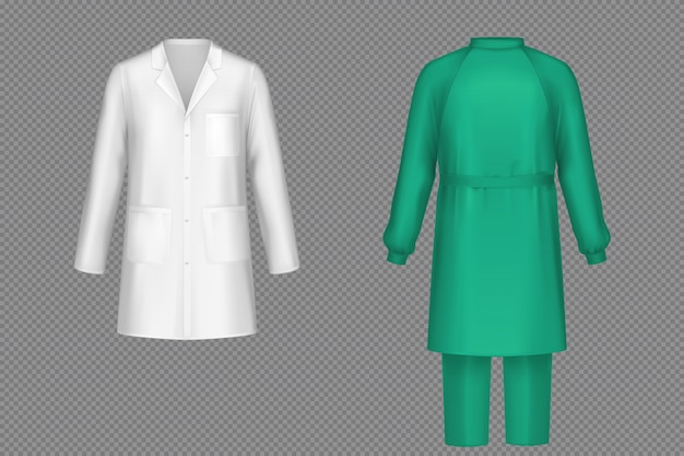 Medizinische uniform für chirurgen, ärzte oder krankenschwestern
