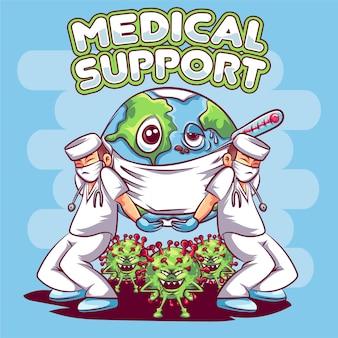 Medizinische unterstützung der welt