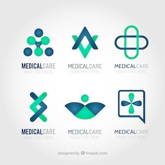 Medizinische versorgung logos pack