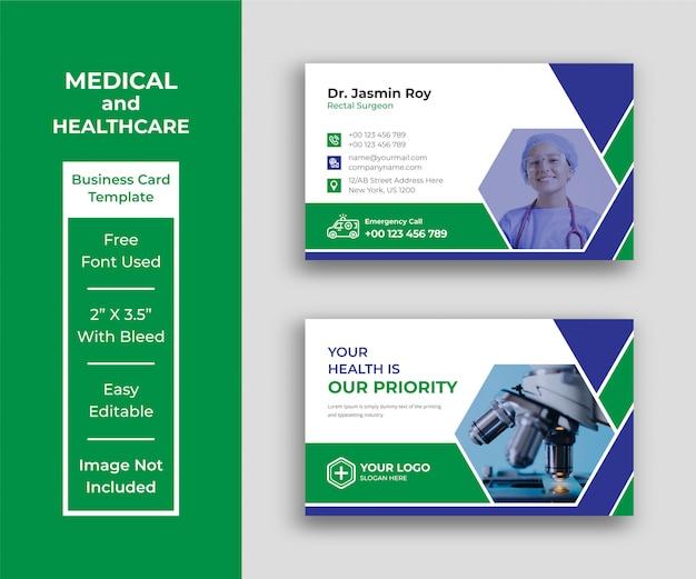 Medizinische visitenkartenvorlage