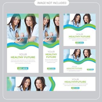 Medizinische web banner vorlage