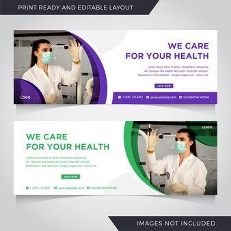 Medizinische werbung und corporate für social media instagram post banner vorlage