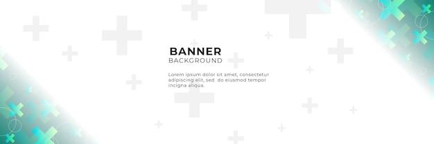 Medizinische wissenschaft und gesundheitswesen blaugrün-gelber farbverlauf-banner-design