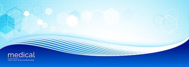 Medizinische wissenschaftsfahne mit textplatz