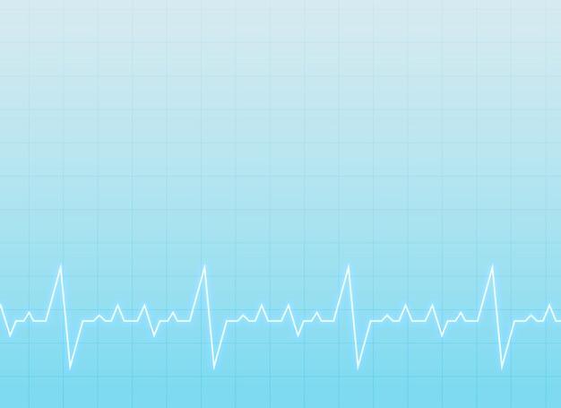 Medizinischen und medizinischen hintergrund mit elektrokardiogramm