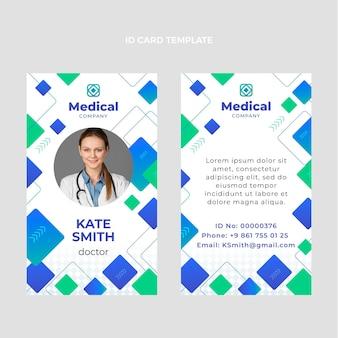 Medizinischer ausweis mit farbverlauf