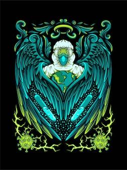 Medizinischer engel