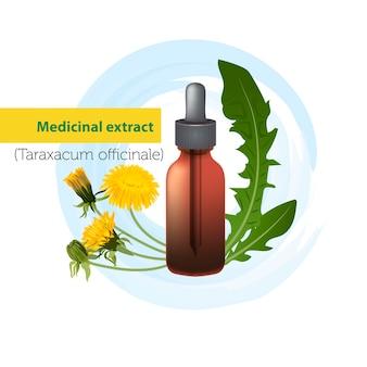 Medizinischer extrakt von löwenzahn