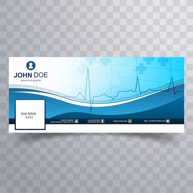Medizinischer facebook-zeitachse-schablonen-designvektor