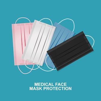 Medizinischer gesichtsmaskenschutz