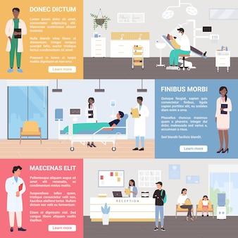 Medizinischer gesundheitsdienst im krankenhaus oder medizinischen zentrum