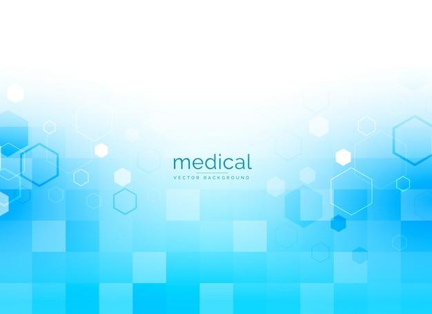 Medizinischer hintergrund in leuchtend blauer farbe