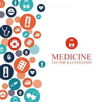 Medizinischer hintergrund mit elementen grafikdesign