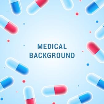 Medizinischer hintergrund mit pillen