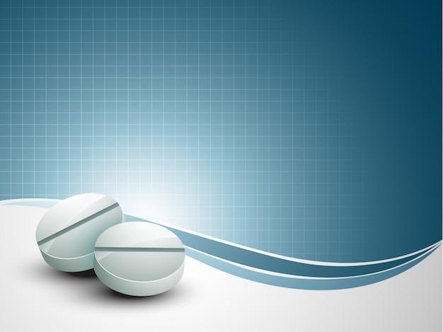 Medizinischer hintergrund mit tablette