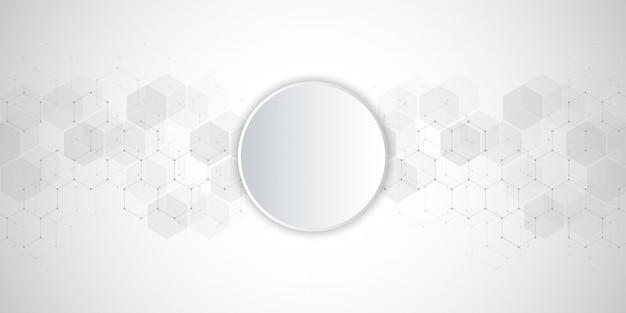Medizinischer hintergrund vom hexagonmuster.
