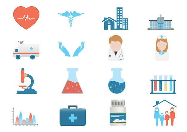 Medizinischer ikonenvektor